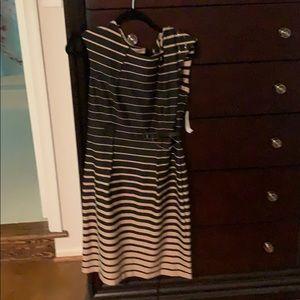 Dress Barn brown and black striped dress